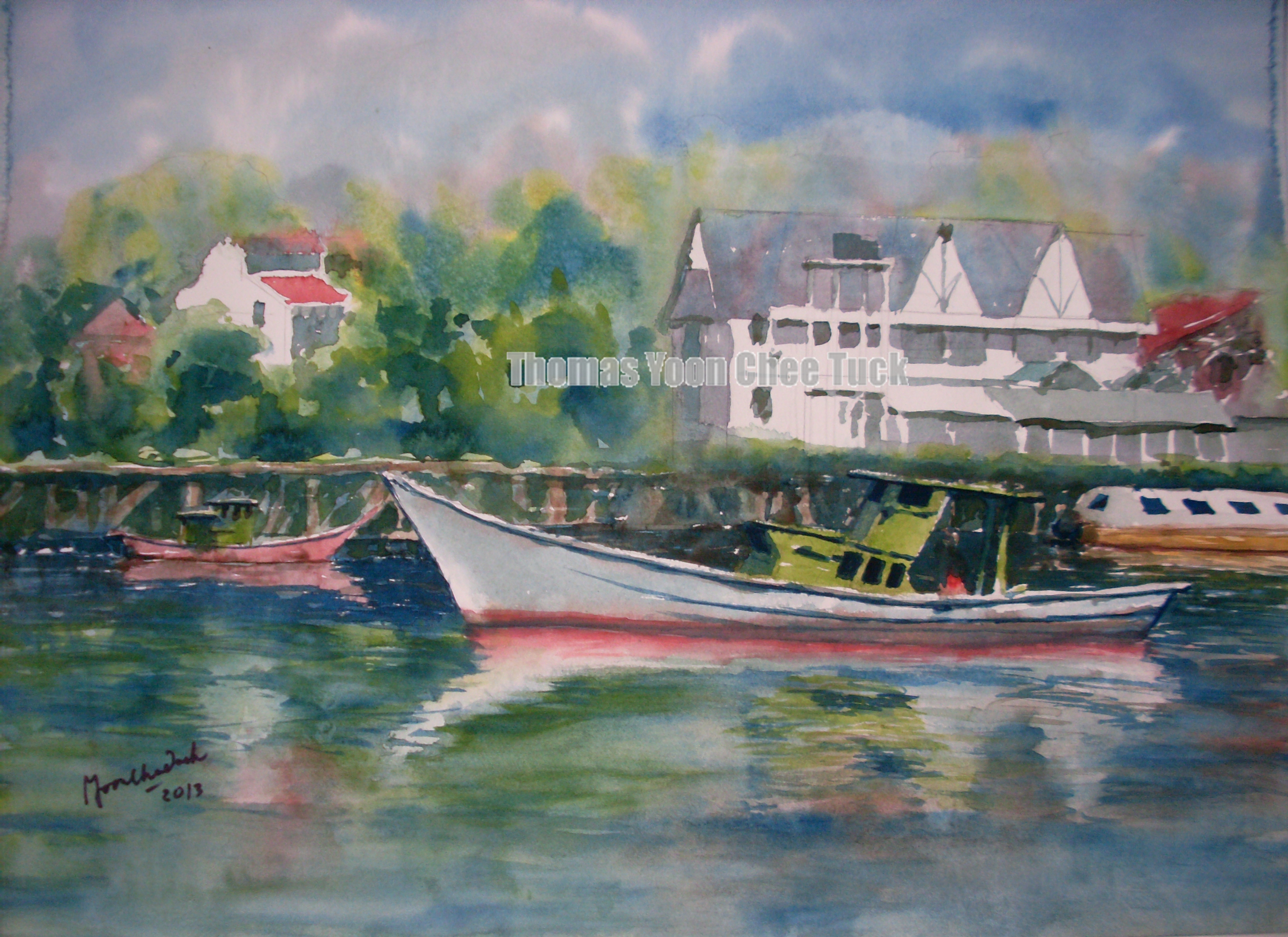 yoon chee tuck watercolor artist seascape landscape malaysia