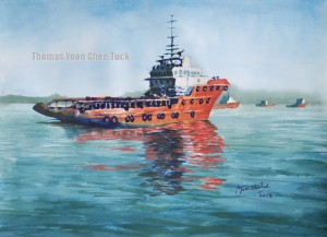 Offshore Support Vessel 1 H45cm x W60cm 2013