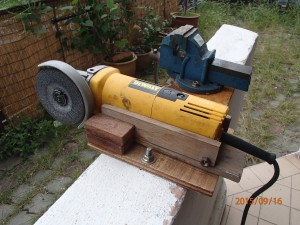 Angle Bench Grinder side view