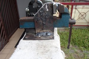 Almost finished bench vise fabrication