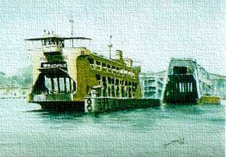 malaysia, penang, seascape, landscape watercolor, watercolour painting, pastel, fine art, for decoration, illustration, decor, of art gallery in the home, office of marine, shipping, corporate companies featuring boats, ships, sea, water, ocean