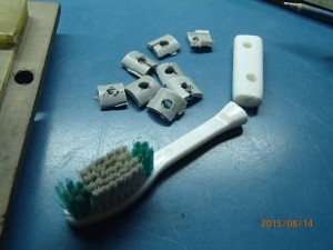 DIY wire clamp and spacers made from household plastic materials