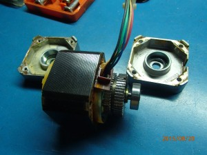 Stepper motor with both covers opened 1