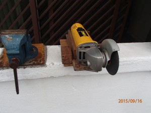 Angle Bench Grinder front view 2