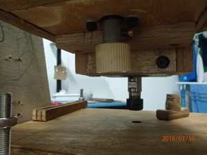 Z-axis lead screw knob installed in place