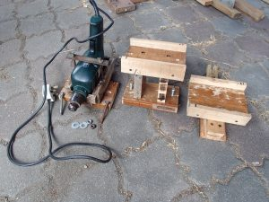 separate pieces of drill press slide
