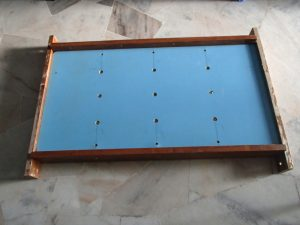 bed board bolted to bottom stiffeners