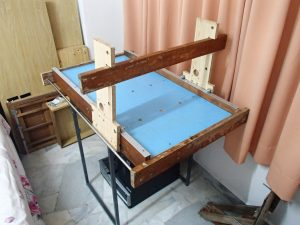 Bed board with gantry
