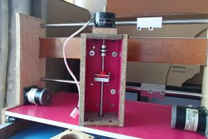 Z axis housing with stepper motor, lead screw, lead screw nut, motor coupling, end bearing