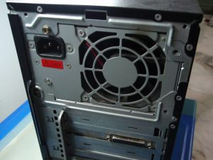 Large opening for Power Supply Unit cooling fan