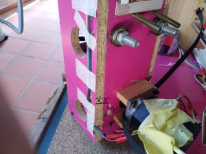 Holes for Y axis belt idler