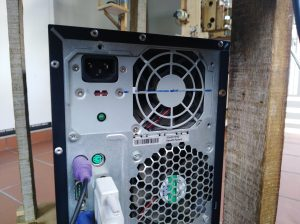 computer fan without screen plate